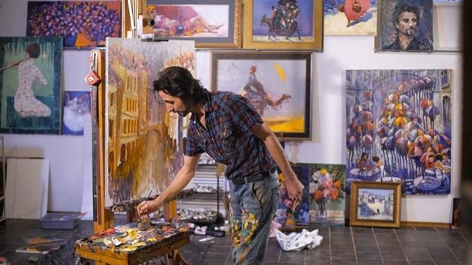 Bildkomposition in der Kunst Hero