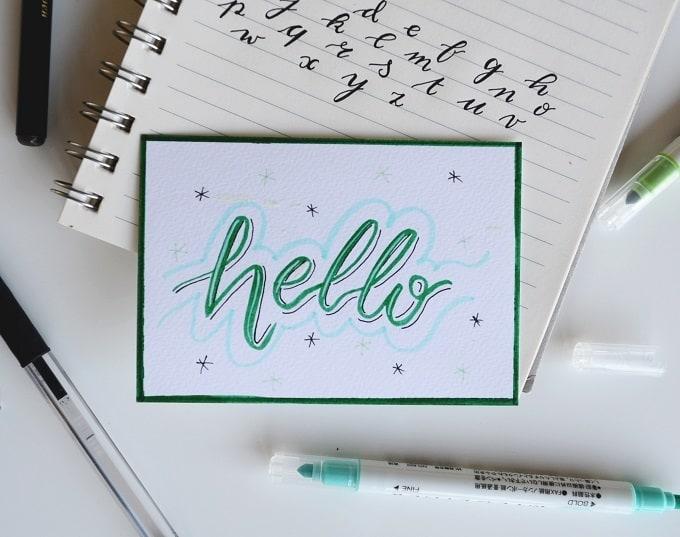Handlettering und Kalligraphie lernen