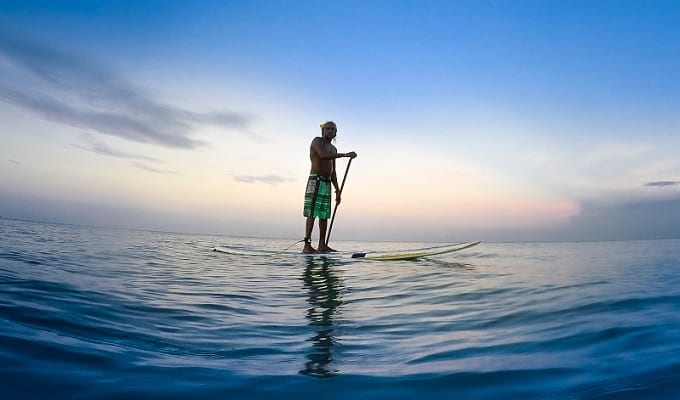 Stand Up Paddling Technik Hero