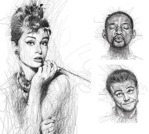 Posen Sammlung Menschen Zeichnen Nach Vorlage 7