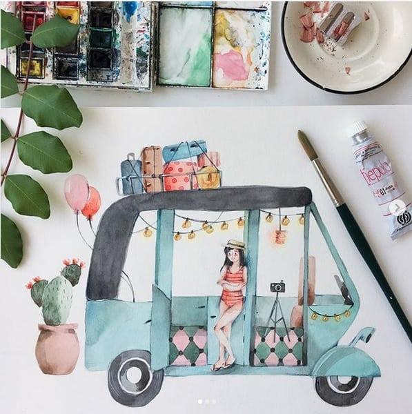 40 Bilder Zum Nachmalen Inspirationen Zu Allen Farbmedien