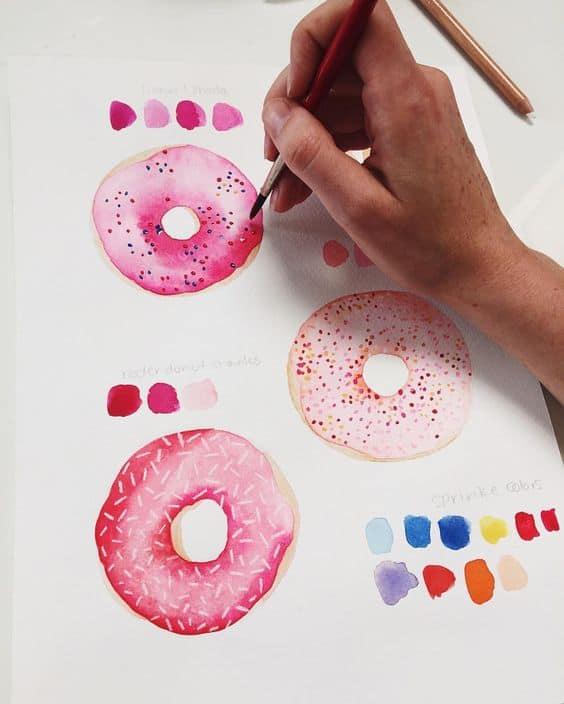 40 Bilder zum Nachmalen - Inspirationen zu allen Farbmedien - Hobbeasy