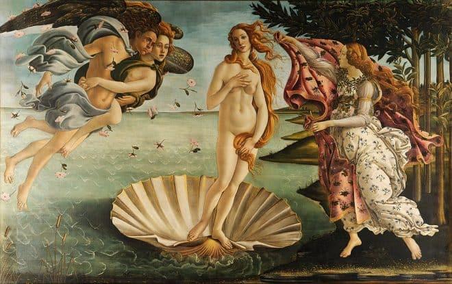 Berühmte Gemälde Die Geburt der Venus