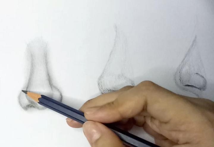 Realistische Nase zeichnen lernen 3